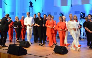 Chor beim Auftritt